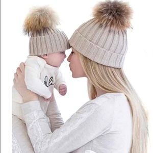Black mommy and me beanies